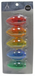 Noma/Inliten-Import 11230-88 Christmas Lights LED Replacement Bulb, C9, Multi-Color Transparent, 5-Pk.