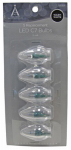 Noma/Inliten-Import 11232-88 Christmas Lights LED Replacement Bulb, C7, Warm White, 5-Pk.