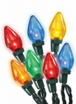 Noma/Inliten-Import 11233-88 Christmas Lights LED Replacement Bulb, C7, Multi-Color, 5-Pk.