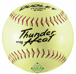 Spalding Sports Div Russell 4A-065YP Dudley Softball, Slow Pitch, Yellow Leather, 12-In.