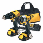 Black & Decker/Dewalt DCK280C2 Compact Cordless Drill/Driver & Impact Driver Combo Kit, Two 20-Volt Lithium-Ion Batteries