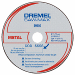 Dremel Mfg SM510C Saw-Max Metal Cut-Off Wheel, 3-In., 3-Pk.
