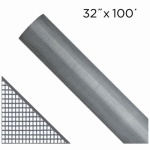 Saint Gobain Adfors FCS8791-M 32-In. x 100-Ft.  Gray Fiberglass Insect Window Screen
