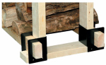 Panacea Products 15211 Log Rack Brackets, Black, 6-1/2 x 9-1/4 x 4-1/4-In., 4-Pc.
