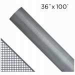 Saint Gobain Adfors FCS8801-M 36-In. x 100-Ft.  Gray Fiberglass Insect Window Screen