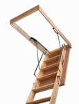 "Marwin The TBW-201 Folding Attic Stairways 30"" x 54"" x 10'-0"" Certified R-10 Insulated Door. Wood - 350 lb duty rating."