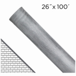 Saint Gobain Adfors FCS9257-M 26-In. x 100-Ft. Bright Aluminum Insect Window Screen