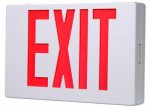Cooper Lighting APX6R LED Exit Sign, AC, Red & White Thermoplastic