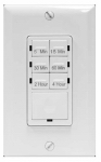 Jasco Products 15318 In-Wall Touch Timer, Digital, 24-Hr./6 Intervals, White