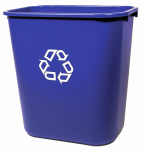 Rubbermaid Comm Prod 2956-73-BLUE Recycling Wastebasket, Blue, 28-1/8-Qts.