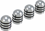 Bell Automotive Products 60168-M Valve Cap, Chrome/Rubber, 4-Pc.