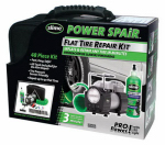 Itw Global Brands 70004 Flat Tire Repair Kit or Kitchen With Tire Inflator, 48-Pc.
