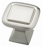 Brainerd Mfg Co/Liberty Hdw P20327C-SN-C Cabinet Knob, Square, Satin Nickel