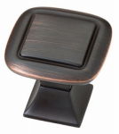 Brainerd Mfg Co/Liberty Hdw P20327V-VBC-C Cabinet Knob, Double Square, Bronze & Copper
