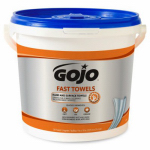 Gojo Industries 6298-04 Fast Wipes Hand Towels, 130-Ct.