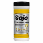 Gojo Industries 6383-06 Scrubbing Towel Wipes, 25-Ct.