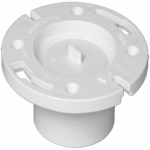 "Charlotte Pipe & Foundry PVC 00800K 0800HA 4"" Pop Top Flange"