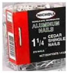 Kaiser Aluminum Fabricated Prod 2KDAXB 1-1/4-Inch Aluminum Cedar Shingle Nails, 400-Pack