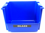United Solutions SB0028 Recycling Stack Bin, Blue, 18-3/4 x 16 x 12.59-In.