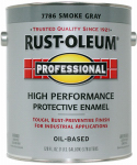 Rust-Oleum 242255 Professional Enamel Paint, Smoke Gray Gloss, 1-Gal.