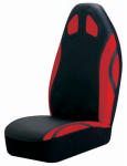 Auto Expressions 5075531 Auto Seat Cover, Sport Performance, Bucket-Style, Red/Black, Universal Fit