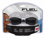 3M 92224-80025 Fuel Sport Safety Glasses, Silver/Black With Grey Mirror Lens