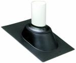 Ips 81700 Roof Flashing, Adjustable, Plastic Base, 1.5 to 3-In.