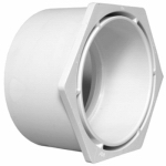 Charlotte Pipe & Foundry PVC 00107  1400HA Plastic Pipe Fitting, DWV  Reducing Bushing, PVC, 3 x 2-In.