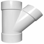 Charlotte Pipe & Foundry PVC 00600  1200HA Plastic Pipe Fitting, DWV  Wye, PVC, 3-In.
