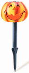 Coleman Cable 96888 Halloween LED Solar Stake Light, Pumpkin, Battery-Operated