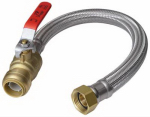 Sharkbite/Cash Acme U3068FLEX18BVLF Water Heater Connector Pipe, Braided Stainless Steel, 1/2 x 3/4 x FIP x 18-In.
