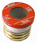 Cooper Bussmann TL-20PK4 4-Pack 20A TL Plug Fuse