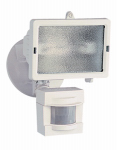 Heathco HZ-5511-WH Halogen Security Light, Motion-Activated, White, 150-Watt