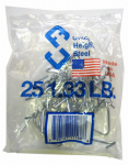 Chicago Heights Steel M005FAST25RG025 T-Post Fence Clips, 25-Pk.