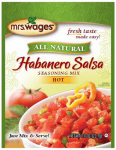 Kent Precision Foods Group W631-K7425 Tomato Sauce & Canning Mix, Hot Habanero Salsa, .8-oz.