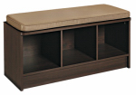 Closetmaid 157000 Storage Bench, With 3-Cubes & Cushion, Espresso/Mocha