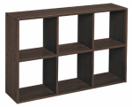 Closetmaid 158200 Mini 6-Cube Organizer, Espresso