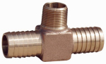 Water Source HT175NL Hydrant Tee, 1 x 3/4-In. MPT