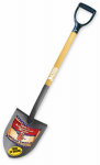 Bully Tools 72510 Shovel, Round Point, Ash Handle, 42.3-In.