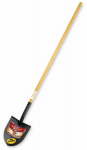 Bully Tools 72515 Shovel, Round Point, Ash Handle, 57.5-In.
