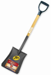 Bully Tools 72520 Shovel, Square Point, Ash Handle, 42.25-In.