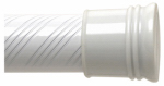 Zenith/Bathware 801WW Adjustable Shower Rod, 72-Inch, White Swirl