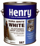 Henry HE587046 587 Elastomeric Roof Coating, White, 1-Gal.