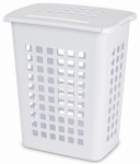 Sterilite 12238004 Slim Laundry Hamper, White Rectangular, 19-1/8 x 13-3/4 x 22-7/8-In.