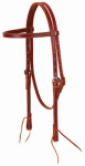 Weaver Leather 10-0092 Horse Headstall, Burgundy Latigo Leather, Tie Ends, 5/8-In.