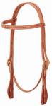 Weaver Leather 10-0078 Horse Headstall, Quick Change Browband, Herman Oak Russet Leather, Tab Ends, 5/8-In.