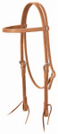 Weaver Leather 10-0347 Horse Headstall, Golden Brown Leather, Tie Ends, 5/8-In.