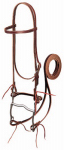 Weaver Leather 20-0350 Horse Bridle, Burgundy Latigo Leather, 4-3/8-In. Curb Bit, 5-Ft. Reins, 5/8-In.