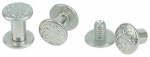 Weaver Leather 30-1100 Chicago Screw Pack For Horse Harness, Floral Nickel Brass, 1/4 & 3/8-In., 6-Pk.