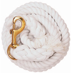 Weaver Leather 35-1901 Horse Lead Rope, White Cotton, 5/8-In. x 10-Ft.